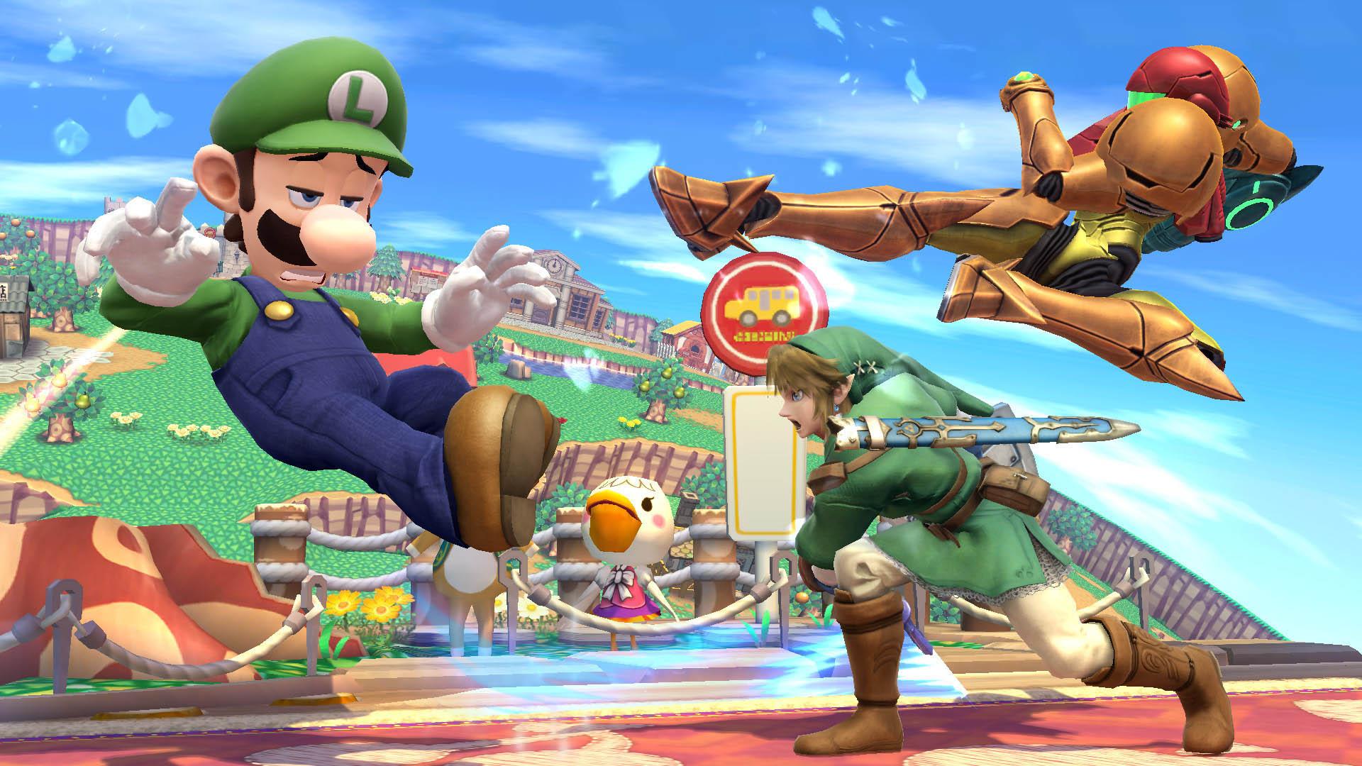 """Ο Luigi την στιγμή που γίνεται """"μπαούλο"""" στο ξύλο...."""