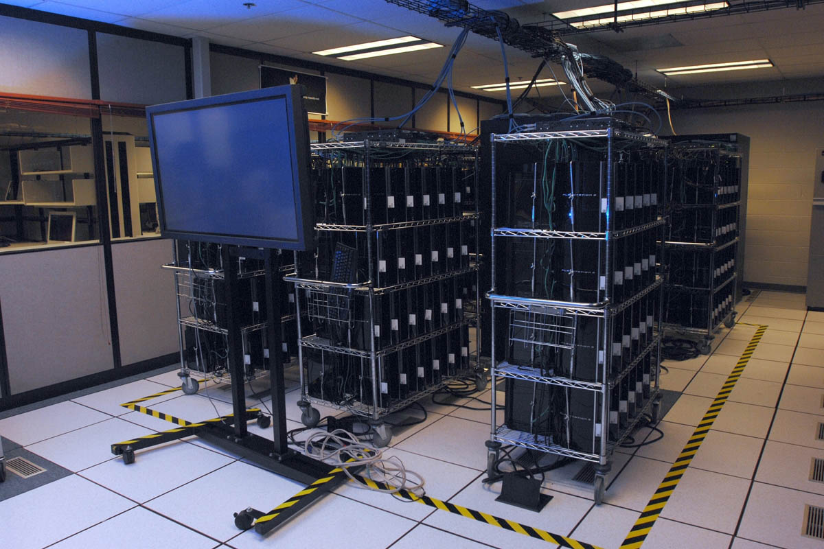This image has an empty alt attribute; its file name is Playstations-in-Racks.jpg